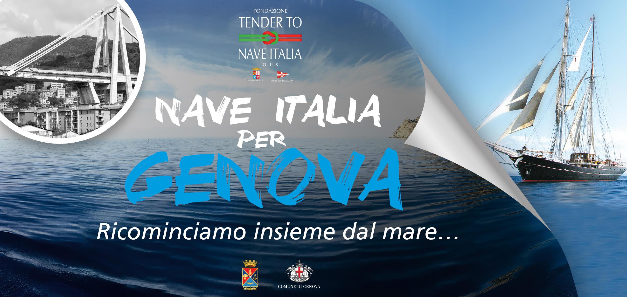 Nave ITALIA a fianco dei ragazzi colpiti dalla tragedia del ponte Morandi